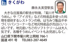 道の駅「きくがわ」 山口県下関市