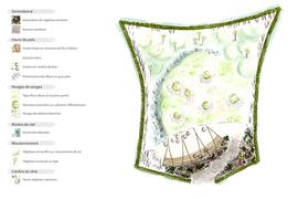 Plan masse pour le festival international des jardins de Chaumont sur Loire 2017. Dessin Elise Aretz