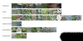 Palette végétale pour le festival international des jardins de Chaumont sur Loire 2017