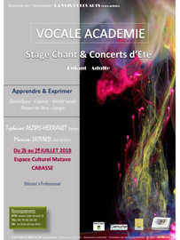 Stage Chant Lyrique Session Vocale Juillet 2018