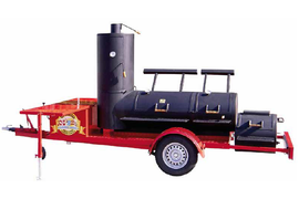 "24"" Extended Catering Smoker Trailer"
