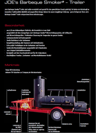 Joe´s Barbeque Smoker® Trailer