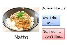 Do you like...? Yes, I do. No I don't.を会話
