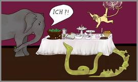 am Buffet: ich hasse lange Schlangen. Immer wenn man drankommt, ist nichts mehr übrig.