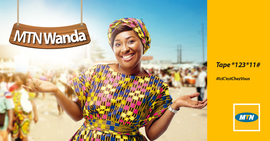 Campagne: MTN WANDA, Directeur artistique: Bibi benzo, Photographe: Zacharie Ngnogue, Agence: MW DDB, Client: MTN CAMEROON