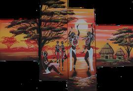 Encadrement de toile africaine par l'atelier Cadre de Vie