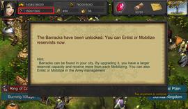 unlock barracks