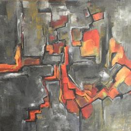 untitled, Acryl auf Leinwand, 100 x 100 cm