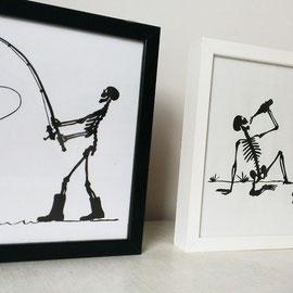 KLAPPERMANN AUF ANGELTOUR. 20 x 20 cm