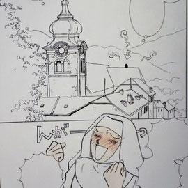 オーストリアの教会にはこういったたまねぎ頭が多く、だだだ大好きなんです!!
