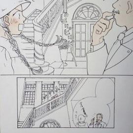本物のトラップ邸は、2年ほど前にホテルとして一般に開放されるまで未公開だったので、映画に使われているのは別の建物でした。なので、本物が描かれたのはこれが初めてだと思います!!!!(*^ー^*)実際のトラップさん、広い庭で声が届かないようなときに笛を吹くことはあっても、家の中でそれをやることはほとんどなかったそうです。(次女マリアさん談)