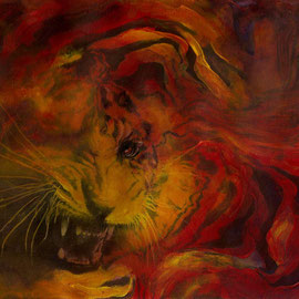 La Tigre d'oro - Acquerello - 21x33