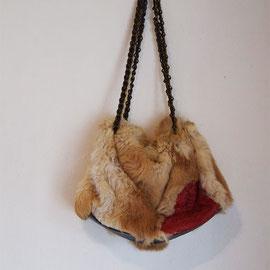 毛皮のバッグ real fur bag
