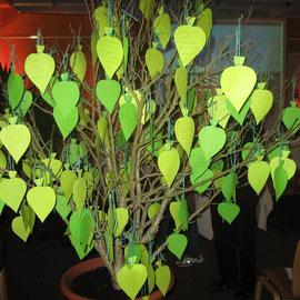 Der Baum des Lebens mit Wünschen von Teilnehmern