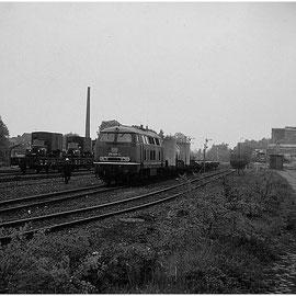 Hier lässt sich einigermaßen erahnen, wie groß die Gleisanlagen in Walheim einst waren