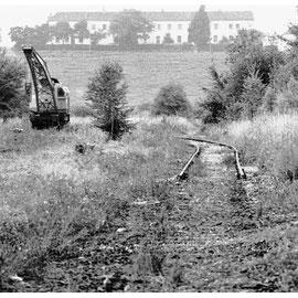 Am Abend des 5. Juli 1982 waren bereits große Bereiche des Bahnhofes zurückgebaut