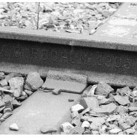 Stille Zeugen der Jahrhundertwende - Schienen  aus dem Jahre 1905