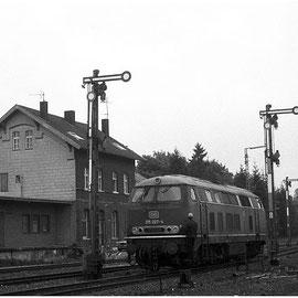 Rangierfahrten im Bahnhof Walheim