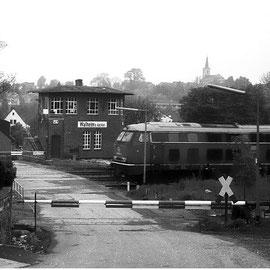 Das Stellwerk des Bahnhofs Walheim