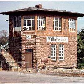 Das alte Stellwerk Walheim am  17. September 1983