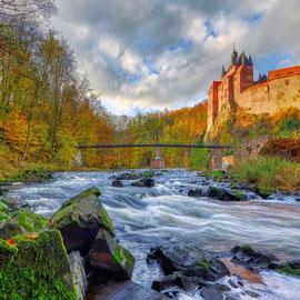 An der Burg Kriebstein