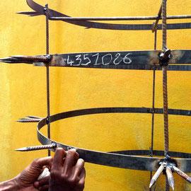 I.N.S.A.A.C (Institut National Supérieur des Arts et de l'Action Culturelle) Abidjan,  Elfenbeinküste 2014 Werk: Abidjan 4.351.086 prison of freedom