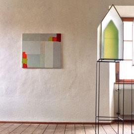 o.T., 2006, 75 x 85 cm, Acryl auf Baumwollnessel, Ausstellung Kunstverein Burghausen