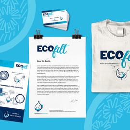 Logo et charte graphique pour l'entreprise Ecofilt