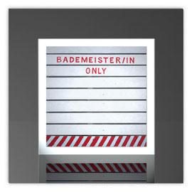 Quadratleuchte, Motiv mit Bademeister/in only 001