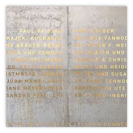 StadtSicht 147c: Kunsthaus Erweiterung: Gönner Beschriftung