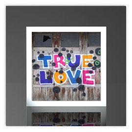 Quadratleuchte, Motiv mit True Love 004