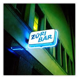 119a Züri Bar Zürich Niederdorf Zürich Aussenwerbung