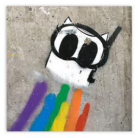 StadtSicht 149a: Graffiti Regenbogen