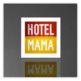 Würfelleuchte, Motiv mit Hotel Mama 020