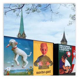StadtSicht 144d: Plakatwand am Limmatquai