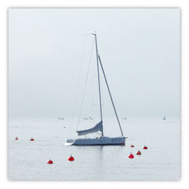 StadtSicht 124c Segelboot auf dem Zürisee