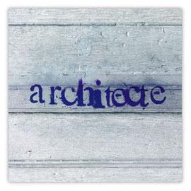 StadtSicht 125b, Architecte Tag auf Holz