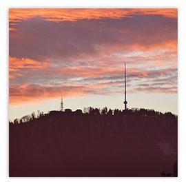 StadtSicht 150b: Uetliberg im Abendrot