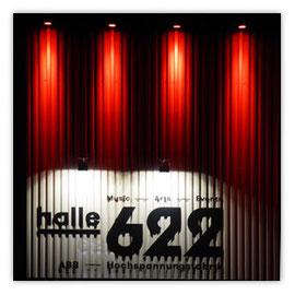 StadtSicht 135d: Aussenansicht der Halle 622 bei Nacht