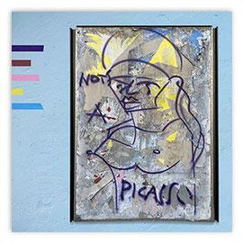 StadtSicht 148b: Graffiti Picasso am Bellevue