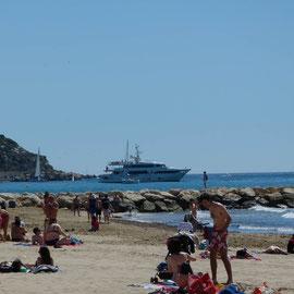 Strandleben incl. großer Yacht
