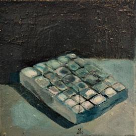 Matelas (20 x 20cm) huile sur toile, 2016