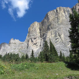 Piz Ciavazes south face, Sella, Dolomites.