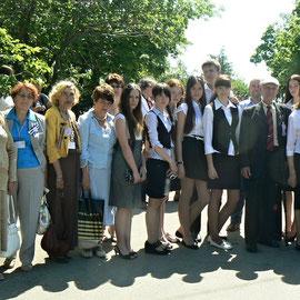 Активисты музея с делегатами конференции МСБМУ 2013 года