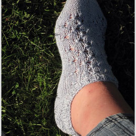 """Sommersocke by DROPS Design / Farbe: """"Eiszauber"""" / Verbrauch 34g"""