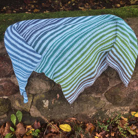 Cornwall / Tuch gestrickt und fotografiert von Ines Hoppe