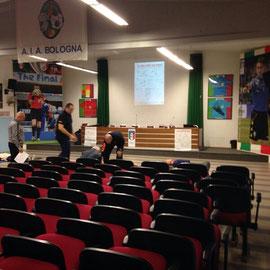 la sala riunioni della sezione di Bologna