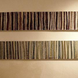 """""""Schnittreif"""" 2-tlg., Acryl auf Bw., 30 cm x 180 cm (2007)"""