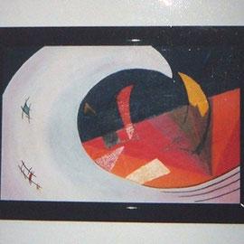 Karola Fels, Künstlerin, Malkurs, Köln, Lindenthal - Die Welle - Acry 2000 (Privatbesitz Bocholt)