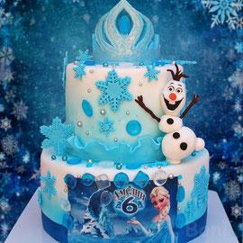 Торт Холодное сердце, Эльза